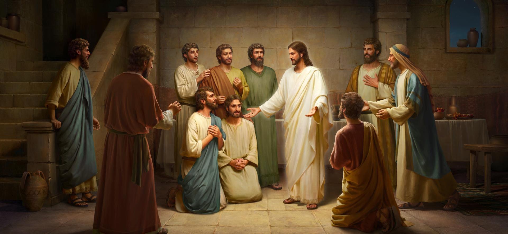 كلمات الرب يسوع لتلاميذه بعد قيامته
